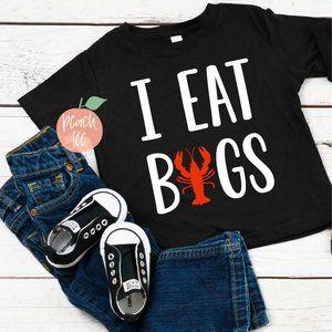 I Eat Bugs (Crawfish) Kids Tee